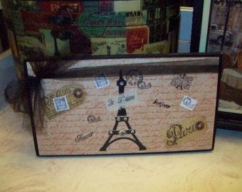 Cream PARIS sign Paris decor,shabby chic,Paris bedroom decor,FRENCH bedroom,French decor,Paris wall decor,French wall decor,Eiffel Tower