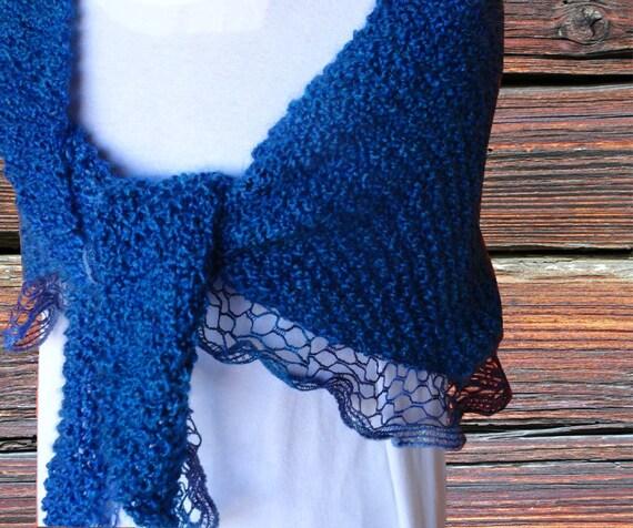 Knit Shawl Pattern, Pattern for Sashay Yarn, Easy to Knit ...