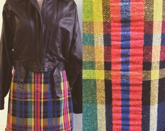 Plaid Grunge High Waist Mini Skirt