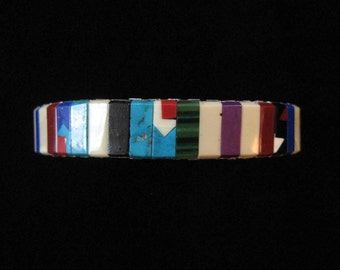 Beautiful Stone Expansion Bracelet, Inlaid Patterns