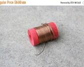 SALE SALE SALE Vintage Wooden Spool Copper Wire Jewelry Making Supplies Metal Working