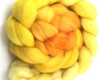 Alpaca/Merino/Silk Combed Top - spinning fiber - Golden Sun roving