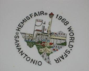 Vintage Hemis Fair - Worlds Fair 1968 - San Antonio TX- (2) Small Wall Decor