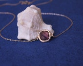 Sterling silver amethyst stone necklace, Bridesmaid Jewelry, Delicate necklace, Mother's gift, Friend gift
