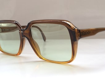 80s Vintage Marwitz 'Portrait' Mad Men Style Caramel Square Frame Sunglasses