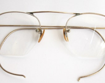 Antique 1920s Eyeglasses // 20s 30s Rare Vintage Frames // Art Deco //  Hexagon Lens // AM005