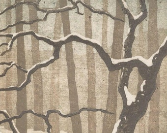 Snow No. 3 - Woodblock Reduction Print - OOAK Original Handpulled Fine Art Print Limited Edition Moku Hanga Landscape