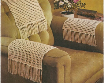 Chairback and chair arms covers knitting pattern. Instant PDF download!