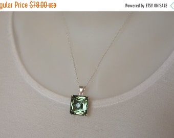 10% sale, Pendant necklace, AAA green amethyst, sterling silver, luxury quality, fine jewelry, womens gift, artisan quality, high end
