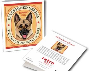 "German Shepherd Cards ""Determined German"" 6 Small Greeting Cards by Krista Brooks"