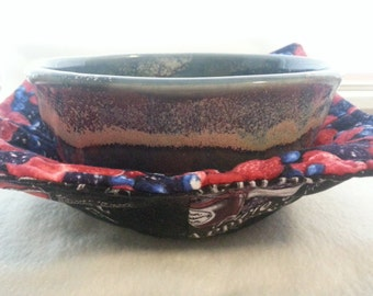 Summer Bounty - Large Quilted and Reversible Fabric Bowl Cozy