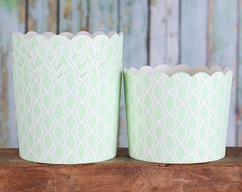 Mint Green Baking Cups, Light Green Cupcake Cups, Large Candy Cups, Wedding Favor Cups, Large Baking Cups, Treat Cups (12)