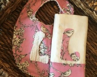 Burp Cloth, Baby Girl Burp Cloth, Personalized Burp, Burp Rag, Burping, Baby Shower Gift, Pink Burp Cloth, Quatrefoil Burp, Baby Gift