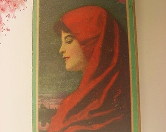 Antique Lady Litho Eureka Lumber Co Greenville Michigan Advertising Sewing Sharps Needle Booklet