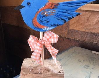 Primitive Wood Bluebird