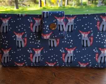 Foxes and polka dots wallet