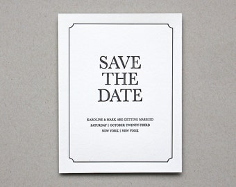 Letterpress Save the Date- Madison Letterpress Save the Date- Traditional, Elegant, Simple, Classic, Custom, Formal, Destination