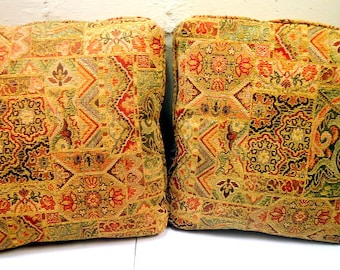 Mid Century Earthy Damask Pillow Set