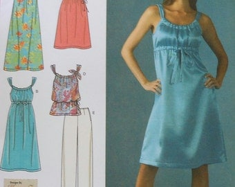 Dress Tunic and Pants Sewing Pattern Simplicity 3742 UNCUT Sizes 4-12