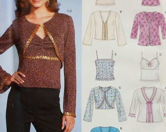 Bolero and Camisole Sewing Pattern UNCUT New Look 6535 Sizes 8-18
