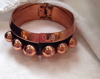 Renoir Copper Cuff Bracelet Ball Accent