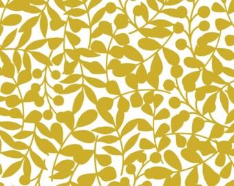 Organic Cotton Flannel Fat Quarter FQ First Light Branch Navy Gold Flannel  Cloud9 Fabrics designer Eloise Renouf Baby Soft