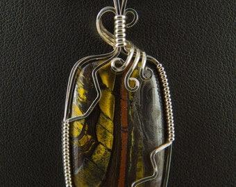 Tiger Iron Silver Pendant