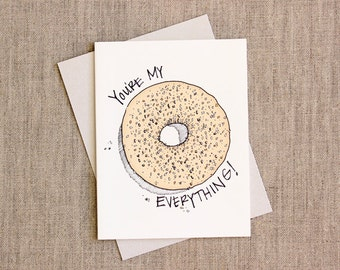 Valentine: Everything Bagel Love Individual A2 Size Card