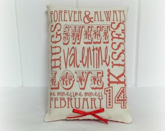 Valentine Pillow | Valentine decoration | Valentine decor | Subway Art Pillow | Holiday decor| Gift for her | Pillow with words | Love