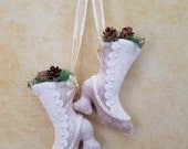 Nine Ladies Dancing - Victorian Boot Version - 12 Days of Christmas Ornament