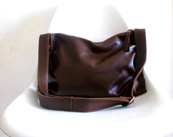 Brown cross-body leather Bag, shoulder bag