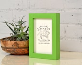 4x6 Picture Frame in Deep Flat Style with Solid Pear Finish - IN STOCK - Same Day Shipping - Handmade 4x6 Photo Frame Green