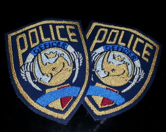 SET OF 2 Zootopia Police Department ZPD embroidered cosplay Shoulder Patches