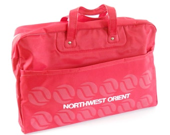 Vintage Northwest Orient Carry On Tote • Vintage Airline Tote