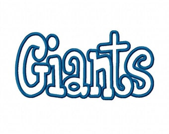 Giants Embroidery Machine Applique Design 4561 Instant Download