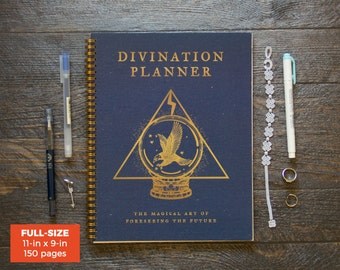 Divination Planner - Blue / Weekly / Full-Size / 12 Months / Choose Your Layout (Vertical or Horizontal) /Pick Your Starting Month