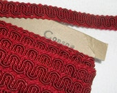 Vintage Conso Red Scroll Gimp Trim • 21 yards