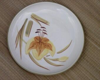 Vintage Winfield China Salad Plate Tiger Iris Pattern
