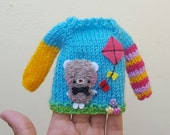 Neo Blythe sweater jumper bear special edition flying a kite