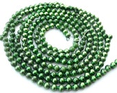 "Vintage Christmas Mercury Glass Garland Green 89"" Total Length"