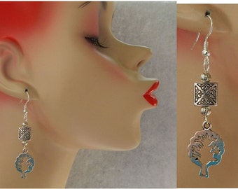 Silver Celtic Tree of Life Charm Drop/Dangle Earrings Handmade Hook New Accessories Fashion Celtic Knot