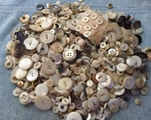 Quart Jar of Vintage Mother of Pearl Button Buttons various sizes