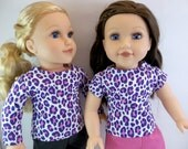 18 inch Doll Clothes Spotted Long or Short Sleeved T shirt Fits American Girl Dolls Doll Clothing Toys