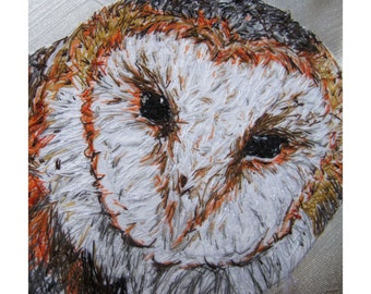 Barn Owl Artwork Cushion Cover