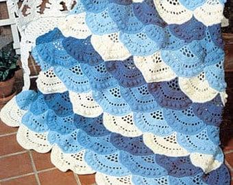 Crochet Pattern LACY SHELLS  Afghan PDF download  Sale Sale  ******