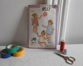 1970's Simplicity Sewing Pattern for a Toddler's Reversible Sundress or Jumper and Panties/Size 2