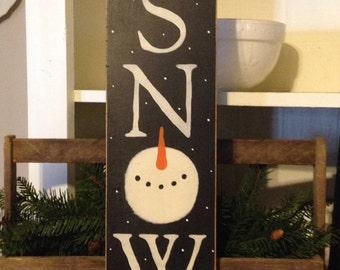 Snowman Sign,Winter Sign,Snow Sign,Primitive Sign,Rustic Sig,Primitive Snowman,Snowman Collector,Seasonal Decor