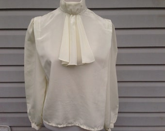 Ivory Blouse with Ascot