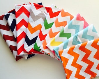 SALE... ONLY ONE Medium Chevron 1/2 yard bundle, from Riley Blake designs, 9 fabrics total