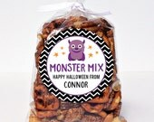 Halloween Stickers - Monster Mix - Sheet of 12 or 24